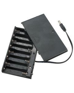 12V Battery Box with 2.1mm Male Jack Plug