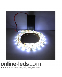 9V Battery Operated 500mm Waterproof Led Strip Cool White SMD3528