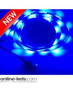 5V Blue USB Led Strip Lights 1M