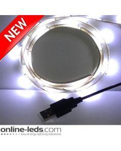 5V Cool White USB Led Strip Lights 1M