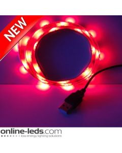 5V Red USB Led Strip Lights 1M