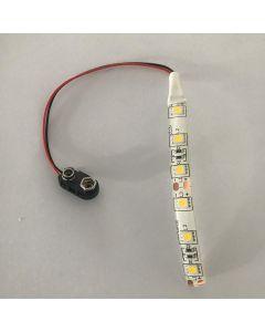 9V Battrey Clip Led Strip Cool White