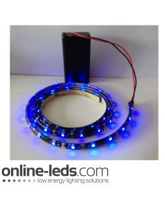 9V Battery Operated 500mm Waterproof Led Strip Blue SMD3528