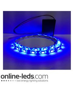 9V Battery Operated  High Brigtness 500mm Waterproof Led Strip Blue SMD5050
