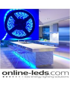 5M Blue Plug and Play - Waterproof LED Strip Lighting Kit SMD 3528 - Low Brightness