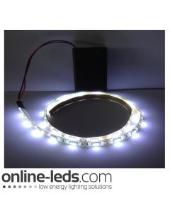 9V Battery Operated  High Brigtness 500mm Waterproof Led Strip Cool White SMD5050