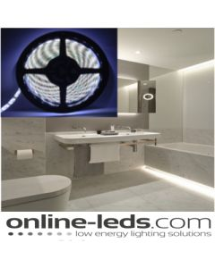 5M Cool White Plug and Play - Waterproof LED Strip Lighting Kit SMD 3528 - Low Brightness