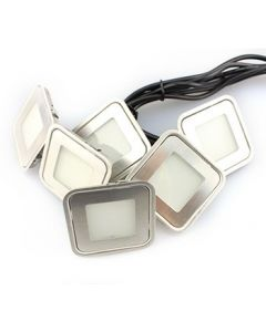 6 Piece LED Decking Light Kit - Square