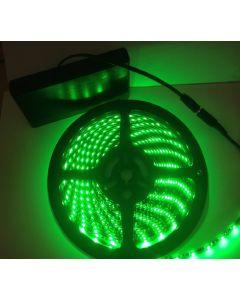 Battery Powered 5M Telescopic Flag Pole LED Strip Tape Light Green