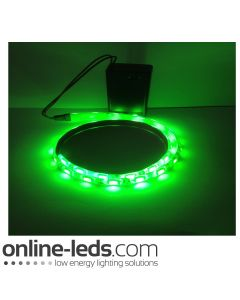 9V Battery Operated  High Brigtness 500mm Waterproof Led Strip Green SMD5050