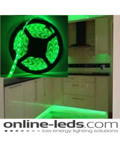 5M Green Plug and Play - Waterproof LED Strip Lighting Kit SMD 3528 - Low Brightness