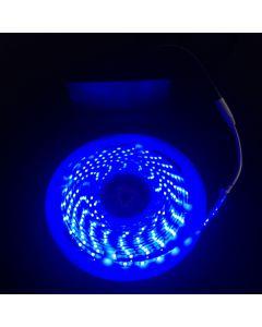 Battery Powered 5M Telescopic Flag Pole LED Strip Tape Light Blue