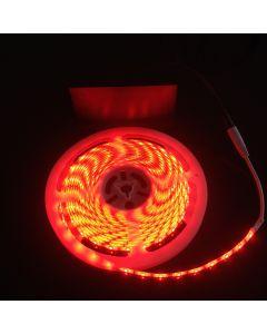 Battery Powered 5M Telescopic Flag Pole LED Strip Tape Light Red