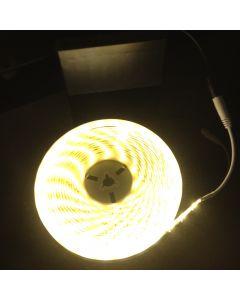 Battery Powered 5M Telescopic Flag Pole LED Strip Tape Light Warm White