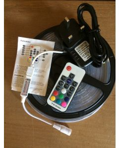 5M RGB Plug and Play - Waterproof - RF Controller LED Strip Lighting Kit SMD 3528 - Ideal For Telescopic Flag Poles
