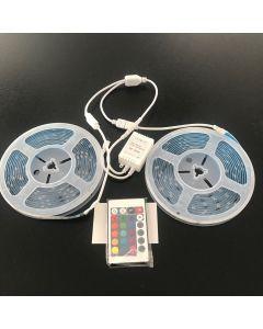 12V 10M RGB Set - Waterproof - IR Controller 24 Key Remote LED Strip Lighting Kit SMD 5050 30 Leds a Meter