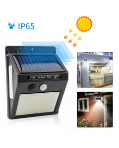 2 x 100 LED Solar Powered PIR Motion Sensor Wall Security Garden Light