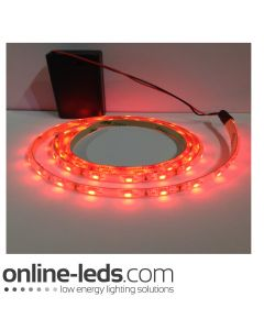 9V Battery Operated 1000mm Waterproof Led Strip Red SMD3528