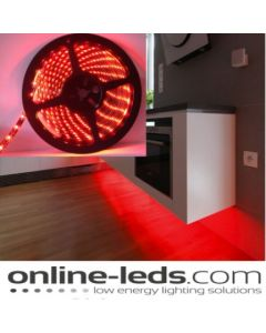 5M Red Plug and Play - Waterproof LED Strip Lighting Kit SMD 3528 - Low Brightness