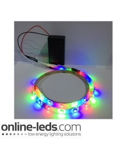 9V Battery Operated 500mm Waterproof Led Strip Colour Changing SMD3528