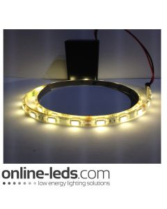 9V Battery Operated  High Brigtness 500mm Waterproof Led Strip Warm White SMD5050