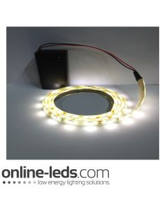 9V Battery Operated 500mm Waterproof Led Strip Warm White SMD3528